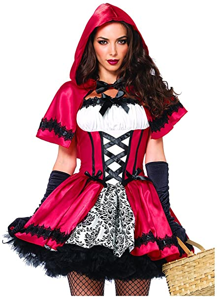 2 Piece Gothic Red Riding Hood