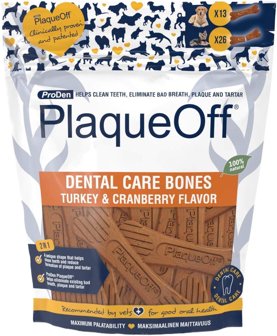 ProDen PlaqueOff Fpxxxx Dental Bones Turkey&Cranberry