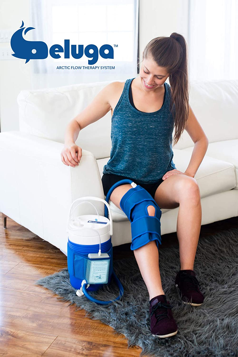 Beluga Arctic Flow Therapy System w/Knee Wrap, Powered | Ice Water Circulating Cold Therapy Machine for Knee After Surgery or Injury