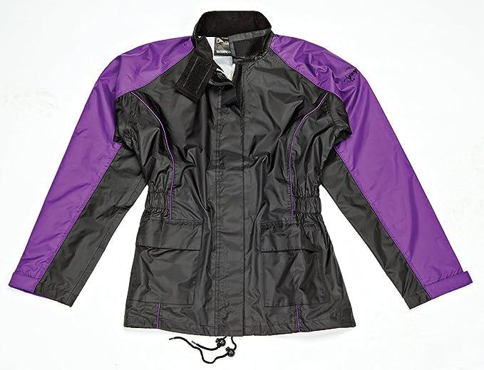 Joe Rocket RS2 2-Piece Womens Motorcycle Rain Suit (Black/Purple, Medium)