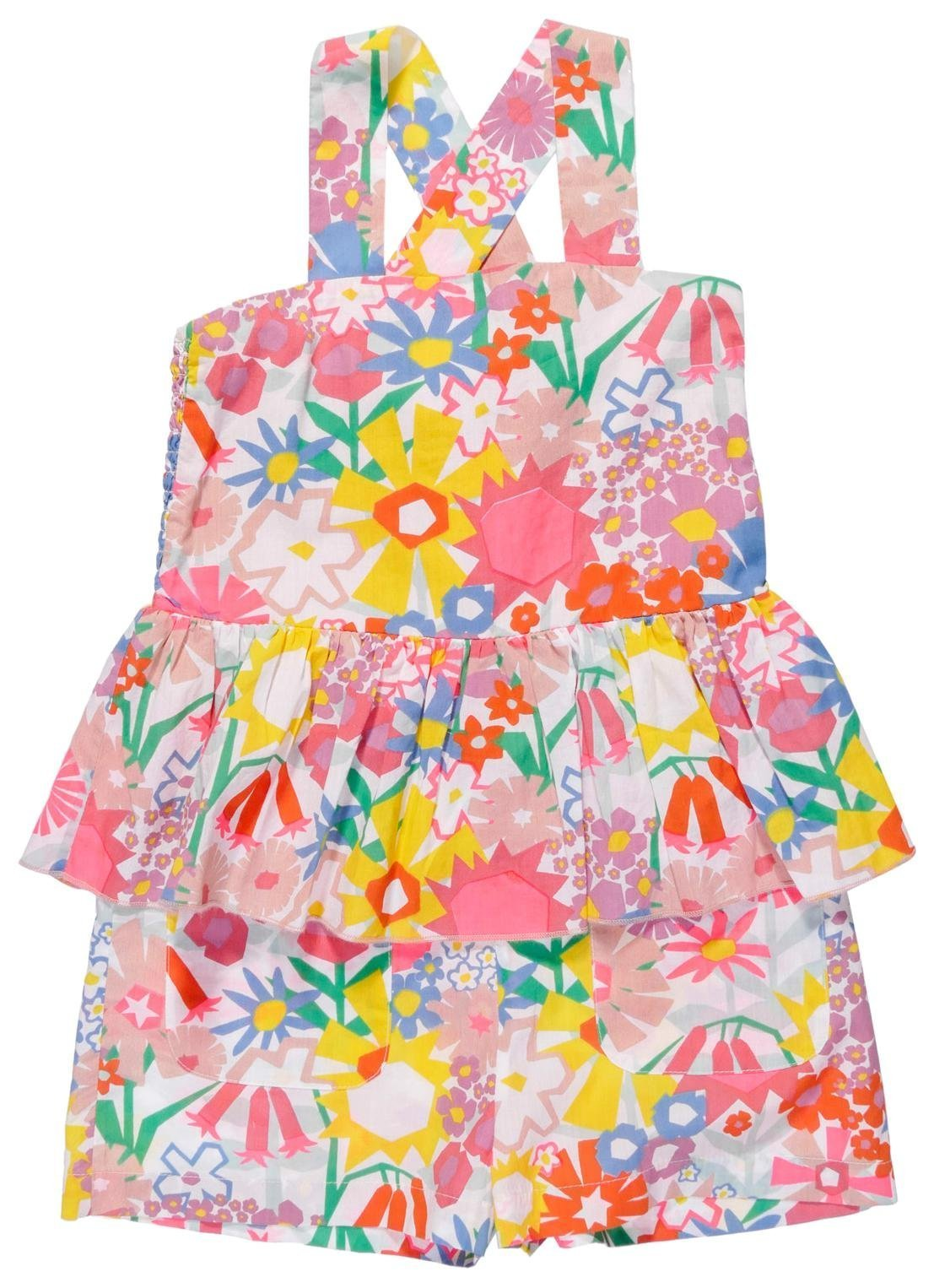 Stella McCartney Kids Girls' Amie Floral Peplum Romper, Multi, 5