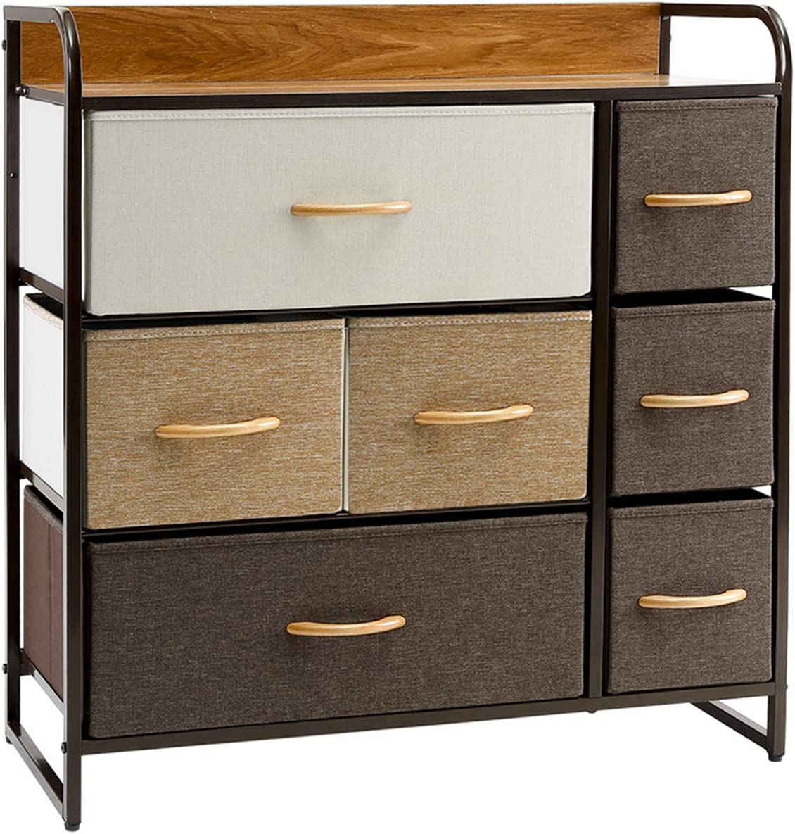 1. Kamiler 3 Tiers, Tower 7 Drawer Dresser.