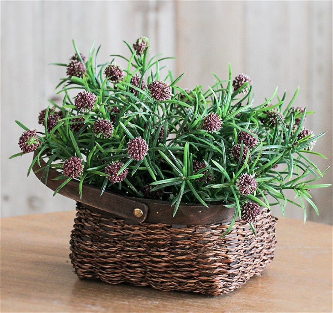 A NOHOPE American Style Country Style Woven Flower Baskets Floral Kit Cafe Shops Decorated Flowers Emulation Flower Home Ornament Creative Gifts Mother's Day Gift