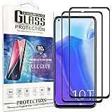 Cindy Mica para Xiaomi Poco X3 Pro/Xiaomi Mi 10i Screen Protector,2-Pack Cristal Templado Protector de Pantalla para Huawei Y