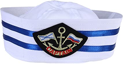 White Sailor Hat Navy Marine Cap Child Adult Unisex Cosplay Costume Accessories