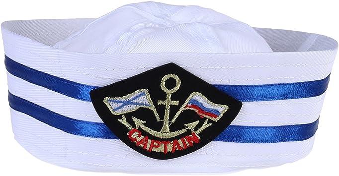 Tinksky Unisex Captain Sailor Hat Sombrero militar de la Marina de ...