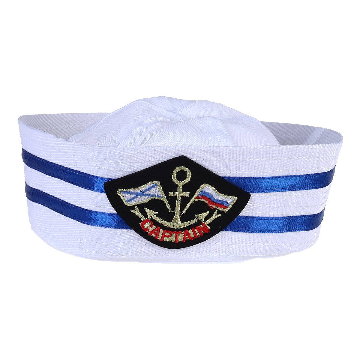 Hippie Hats,  70s Hats BESTOYARD Captain Hat Cap Sailor Hat Skipper Navy Marine Cap Kids Yacht Cap Hat For Costume Accessory 58CM $7.98 AT vintagedancer.com