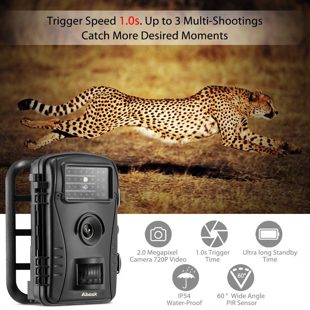 amazon com trail camera abask game and hunting wildlife camera