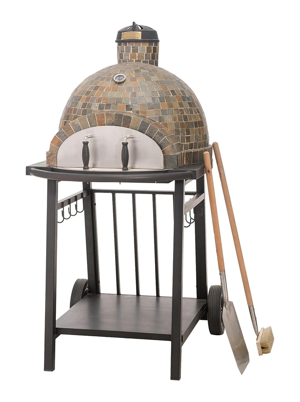 Amazon.com: Sunjoy Killington Wood-Fired Pizza Oven with 2 Wheels ...