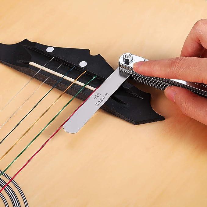 MagiDeal Medidor de Radio de La Cuerda Inferior de La Guitarra Constructor de Herramientas Luthier Medida Del Radio de Reparaci/ón
