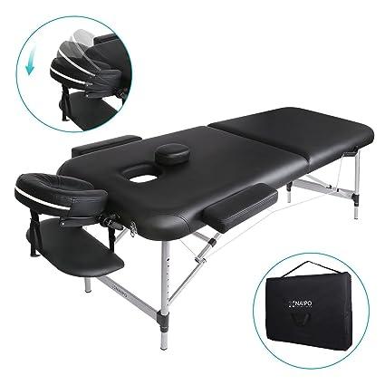 Lettino Estetista Pieghevole Usato.Naipo Lettino Da Massaggio Deluxe Professionale Portatile A 2