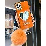 Luxurious Makeup Mirror Mobile Phone Case, Luxurious Bling Heart Shaped Mirror Phone Case for iPhone 11/12 Mini Pro Max…
