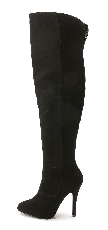 Nina Women's Keisha Over the Knee Boots, Black, Size 8.5
