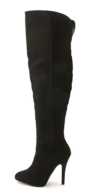Nina Women's Keisha Over the Knee Boots, Black