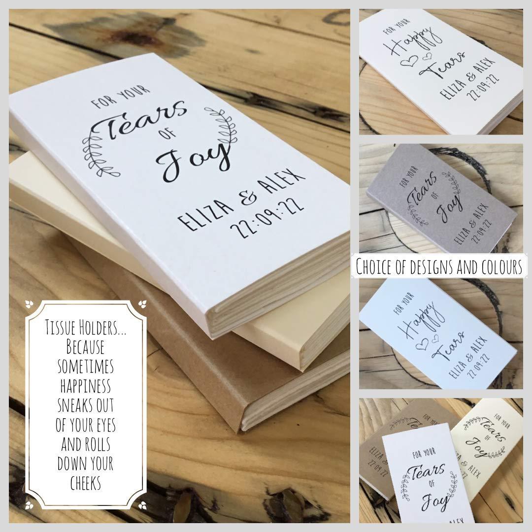 Wedding Idea 10 Pack Wedding Tissues Guest Gift Custom Tissue Holder Tissue Favor Wedding Favour Personalised Wedding Gift