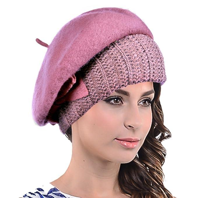 HY022 Boina de lana francesa para mujer 4050d9a0f94