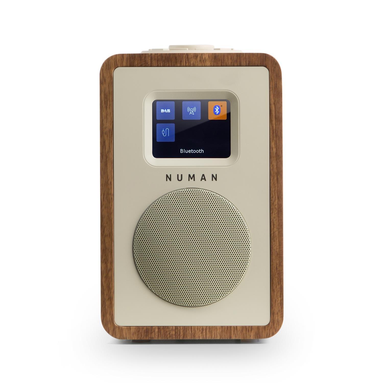 Bluetooth AUX Mp3 Equalizzatore Sveglia dual-alarm Line-Out Digital Radio NUMAN DLS RDS Nero Mini One DAB+ OUC Design retr/ò Schermo TFT 2,4 Men/ù multilingue