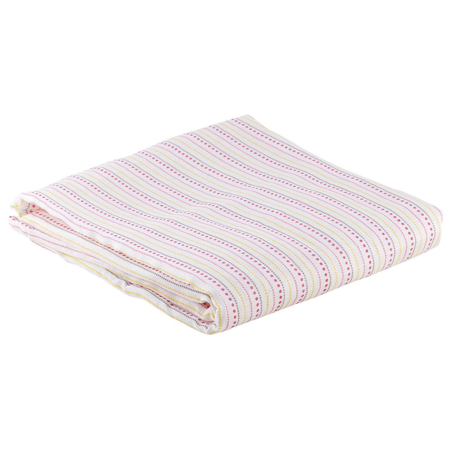Stephan Baby Viscose Cotton Muslin Swaddle Blanket, Pink Polka Dots