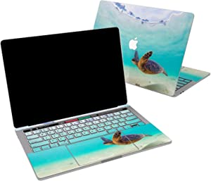 Lex Altern Vinyl Skin for MacBook Air 13 inch Mac Pro 16 15 Retina 12 11 2020 2019 2018 2017 Ocean Blue Cute Swimming Turtle Summer Sea Summer Touch Bar Laptop Cover Keyboard Decal Sticker Wrap