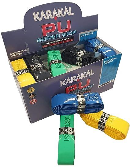 Multi Colours Karakal PU Super Squash Grips by Karakal