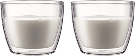 Set of 2-10602 Bodum Bistro Double Wall Insulated 5 Ounce Glasses w// handle