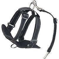 Kaka Mall - Arnés para perro o gato ajustable, con relleno suave acolchado, para coche con cinturón de seguridad