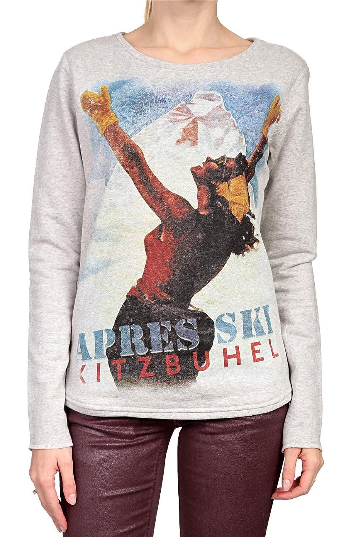 Hotspot Damen Sweatshirt APRES SKI, Farbe: Grau