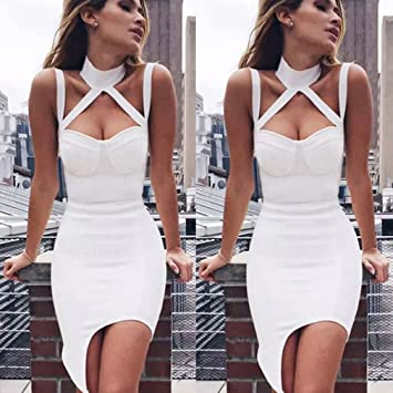 40b227bc449c Image Unavailable. Image not available for. Color  Meolin Woman Short Mini  Dress Sexy Summer ...