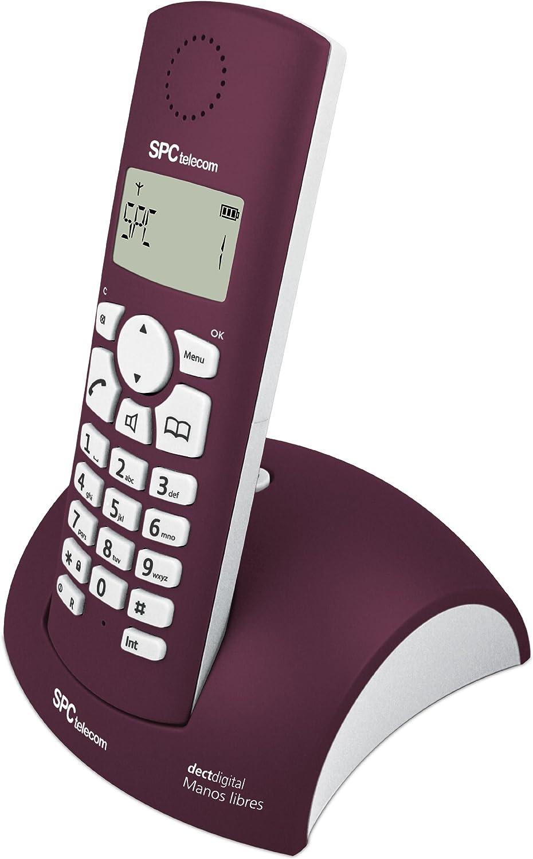 SPC Telecom 7226J - Teléfono fijo digital (inalámbrico, DECT), verde y blanco: Amazon.es: Electrónica