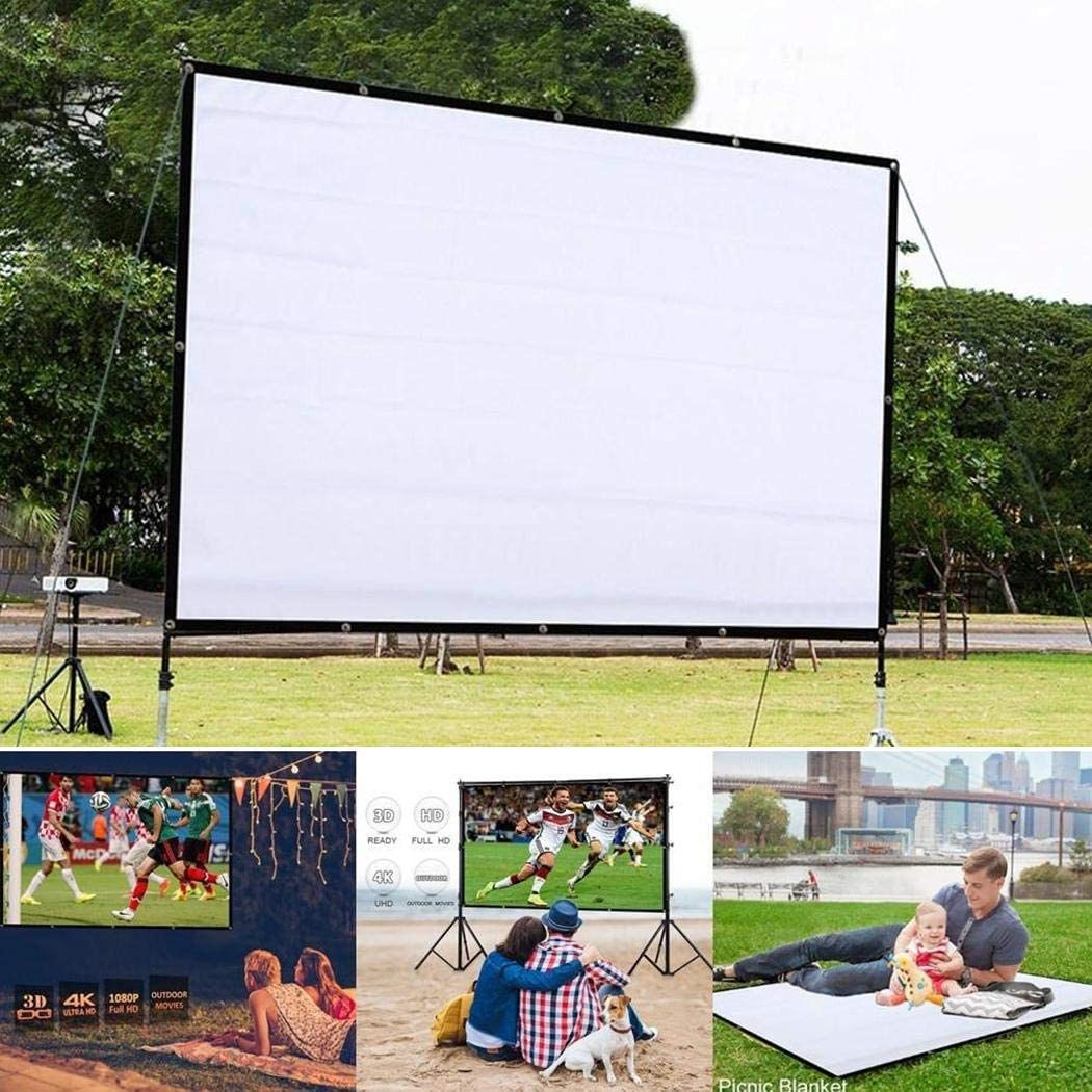 Junio1 Portable Folding Movie Screen Household Light Resistant Projection Screen Projection Screens