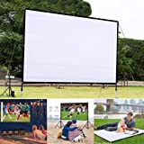 melysUS Portable Folding HD Movie Screen, Wall-Mounted Theater Projector Screen Movie Screen