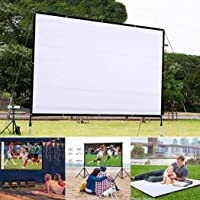 melysUS 92inch Portable Folding HD Movie Screen, Outdoor Indoor Wall-Mounted Theater Projector Screen Movie Screen for Home Theater Camping and Recreational Events