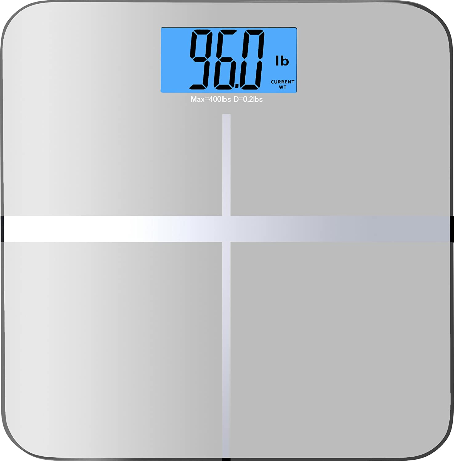 BalanceFrom High Accuracy Premium Digital Bathroom Scale with 3.6 Extra Large Backlight Display BFHA-C400SV