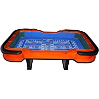 """93"""" Craps Table with Diamond Rubber Blue"""