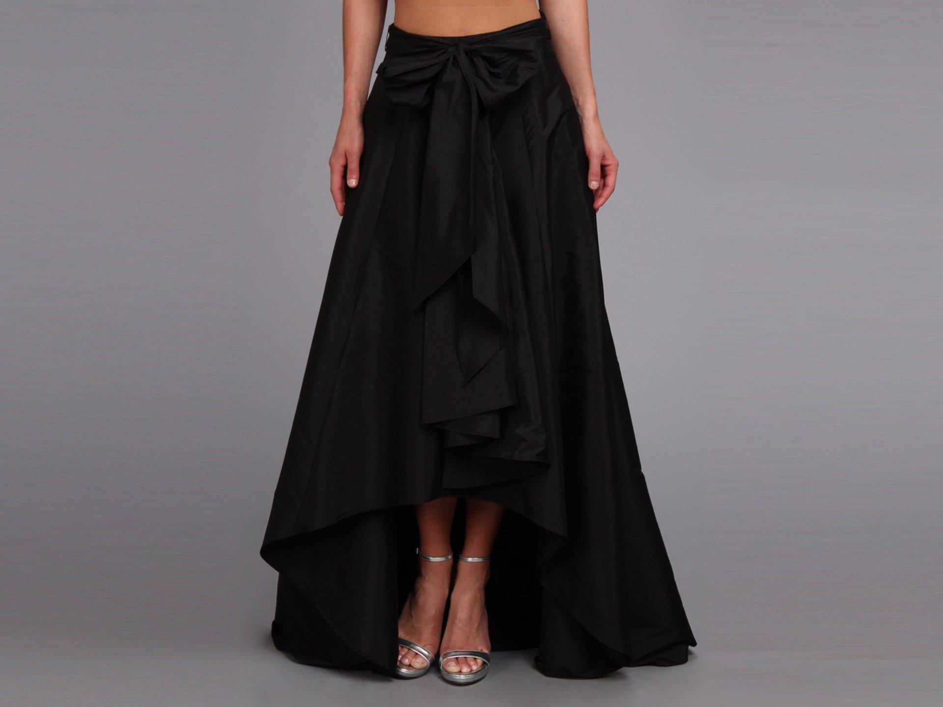 Adrianna Papell Women's High-Low Ball Skirt Black Skirt 8 by Adrianna Papell