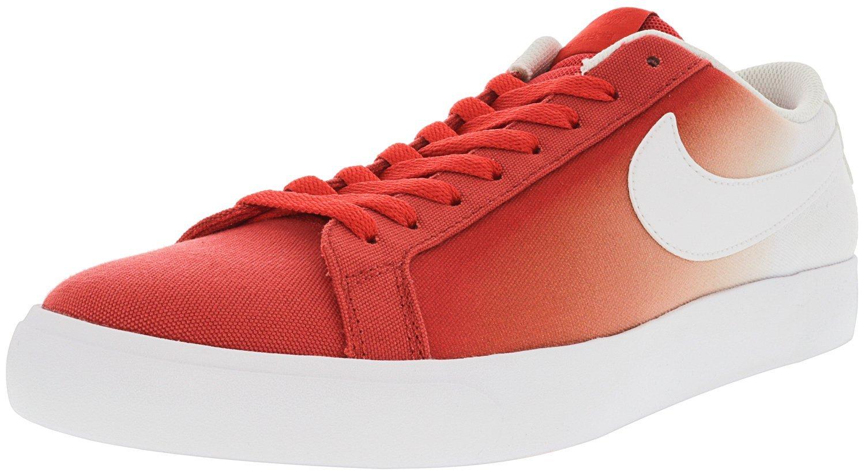 NIKE Men's SB Blazer Vapor Track Red/White Ankle-High Canvas Skateboarding Shoe - 8M