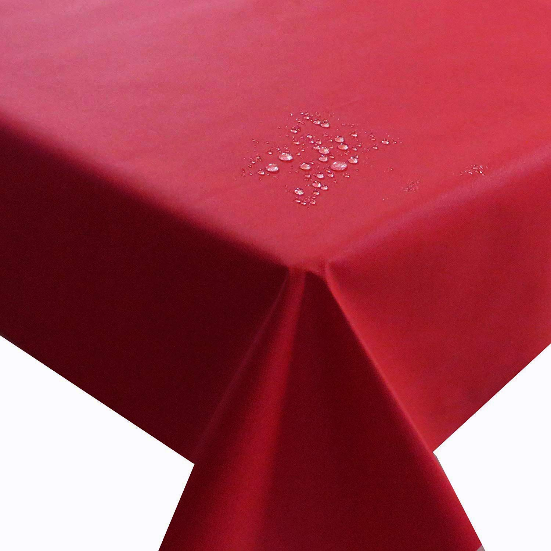 NL Meterware Stoff Farbe , Breite & Länge wählbar - Rot TEFLON Eckig 90 x 490 bzw. 490x90 cm Tischdecke   Kein Wachstuch   Gartentischdecke Lotus Effekt wasserabweisend Lebensmittelecht B01EENOVX0 Tischdecken Genialität | Das hochwertigste Mater