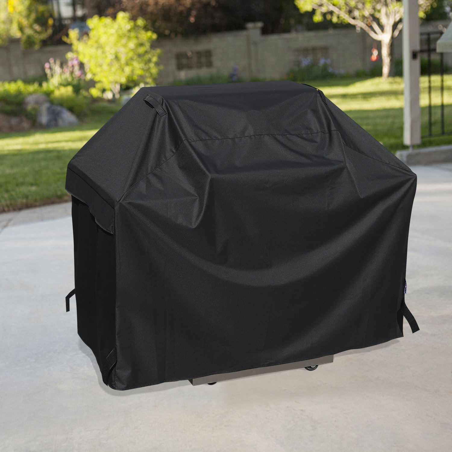 Unicook Heavy Duty Waterproof Barbecue Gas Grill Cover, 65-inch BBQ Cover, Special Fade and UV Resistant Material,Fits Grills of Weber Char-Broil Nexgrill Brinkmann and More Homepro Manufacturing