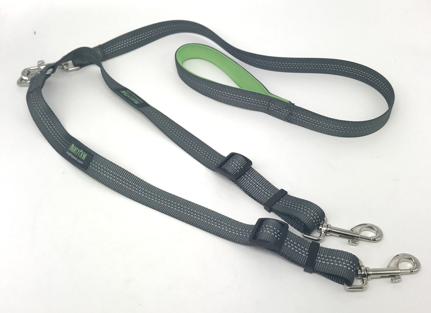 Mighty Paw Double Dog Leash, Two Dog Adjustable Length Dog Lead, Premium Quality No-Tangle Leash for 2 Dogs 1