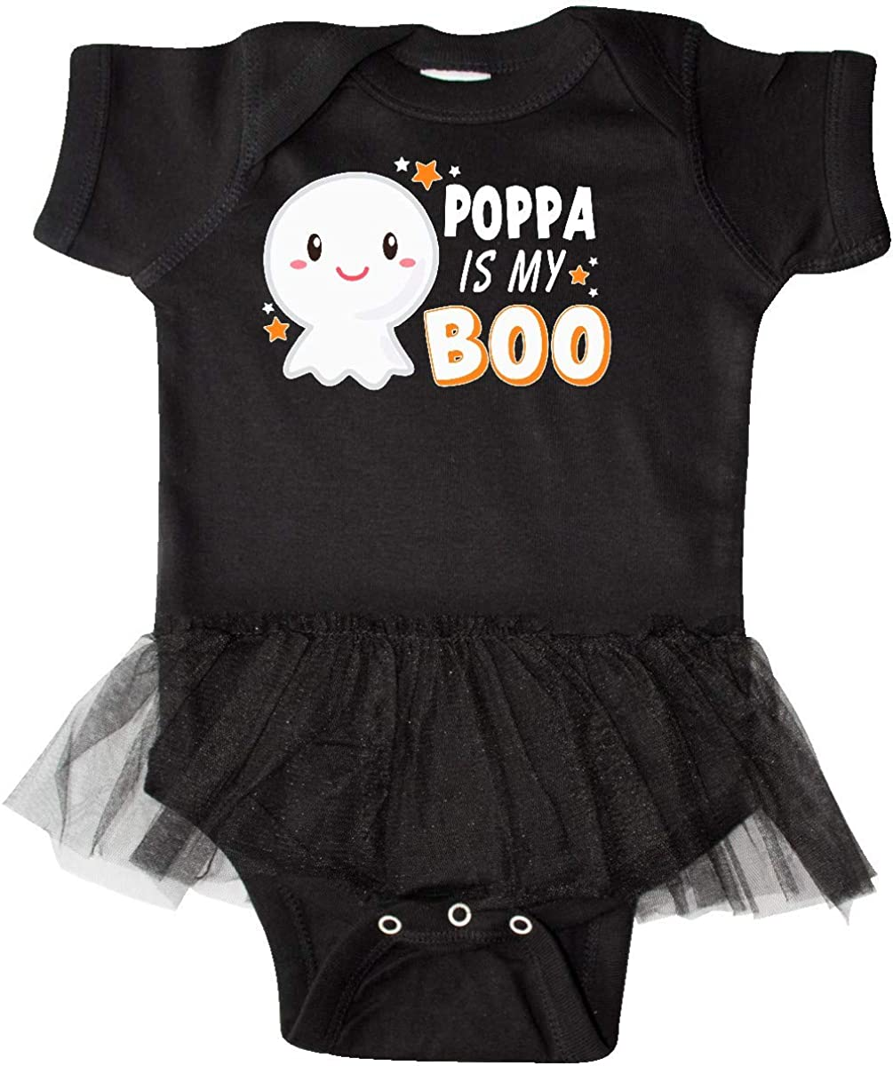 inktastic Poppa is My Boo with Cute Ghost Infant Tutu Bodysuit