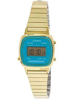 97b6134963a5 CASIO Reloj Digital para Mujer de Automático con Correa en Acero ...