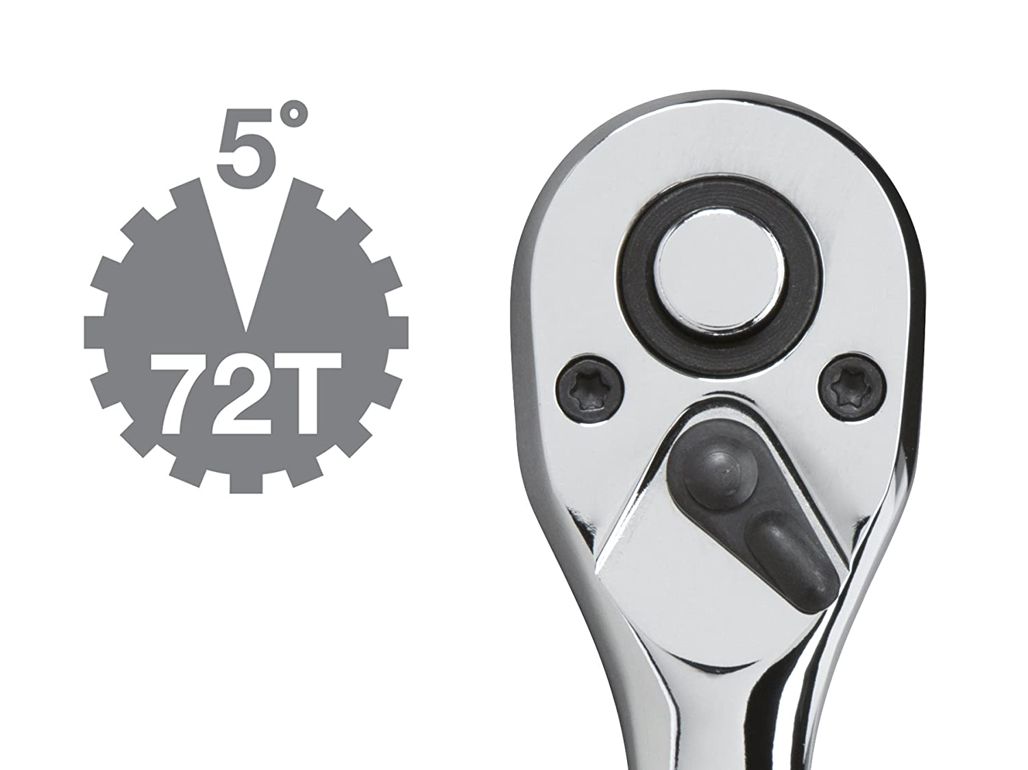 TEKTON 1//2-Inch Drive by 10-Inch Quick-Release Offset Ratchet 1488 Michigan Industrial Tools 72-Tooth Oval Head