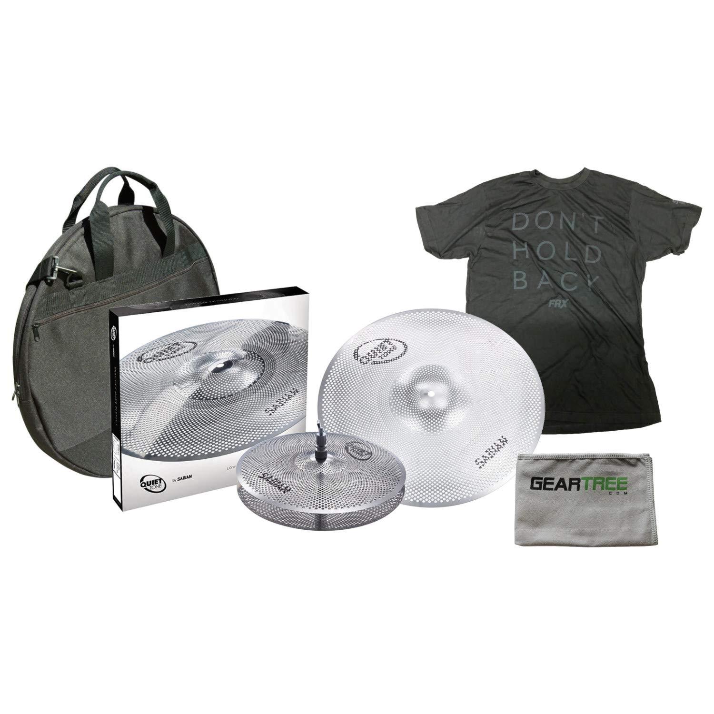Sabian QTPC501 Quiet Tone Cymbal Pack with 13'' Hi Hats, 18'' Crash Ride Cymbal