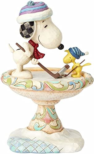 Enesco Peanuts by Jim Shore Snoopy and Woodstock, 8 Stone Resin Figurine, 8 , Multicolor