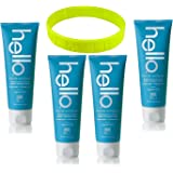 hello Toothpaste, Supermint, 5.0 Oz with Fluoride, Vegan and ADA Approved + LiveMyLife Wristband (4 pack of 5.0 oz, supermint)