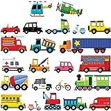 Decowall DS-8004 Transporte Autos Fahrzeuge Wandtattoo Wandsticker Wandaufkleber Wanddeko für Wohnzimmer Schlafzimmer Kinderzimmer (klein)