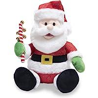 """Cuddle Barn   Jingling Santa 11"""" Singing Santa Claus Christmas Plush Toy   Funny Animated Xmas Gift Holiday Musical…"""