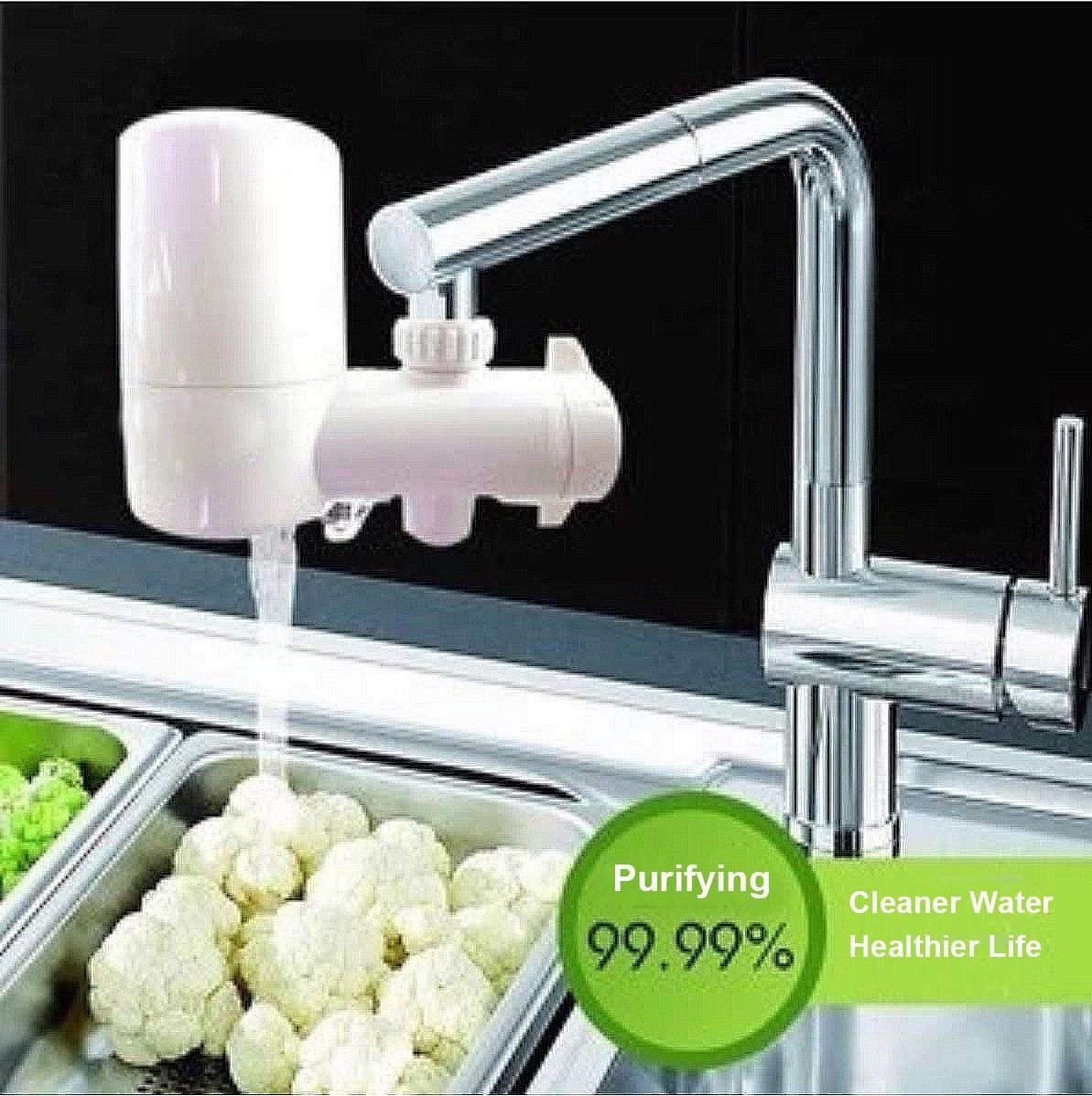 Hi-tech Ceramic Filter Tap Faucet Water Purifier Kitchen Inline ...