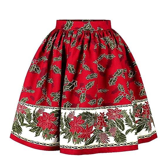Jackilove Falda de Mujer Cintura elástica Burbuja Plisada Vestido ...