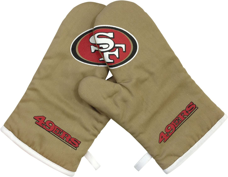 PSG INC NFL San Francisco 49Ers Sports Team Logo Oven Cross Mitt Gloves